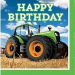 Napkins - LN - Tractor Time - 16pkg - Final Sale