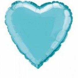 Foil Balloon - Heart -Baby Blue-18''