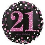 """Foil Balloon-21st Birthday 18"""""""