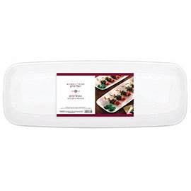 Platter-Long-White-Plastic