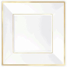 Plates-Dessert-Premiun-White-Gold Trim-8pk