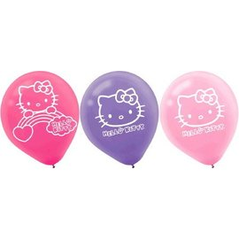 Latex Balloons-Hello Kitty-6pk