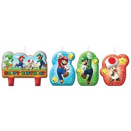 Candle Set-Super Mario-4pk