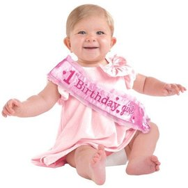 Sash-1st Birthday Girl-Adjustable