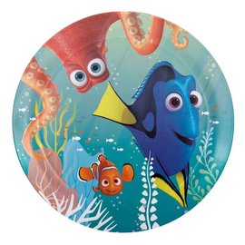 """Finding Dory Plates 6 3/4"""" 8pk- Final Sale"""