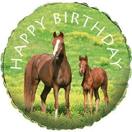 Foil Balloon - Wild Horses Happy Birthday - 18""
