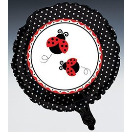 "Foil Balloon - Ladybug Fancy - 18"""