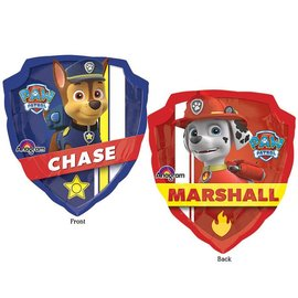 Foil Balloon-Supershape-Paw Patrol-Chase/Marshall