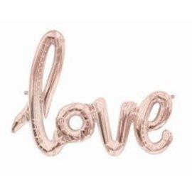Air Filled Love Balloon Banner Pink