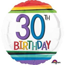 "Foil Balloon -30th Birthday -18"""