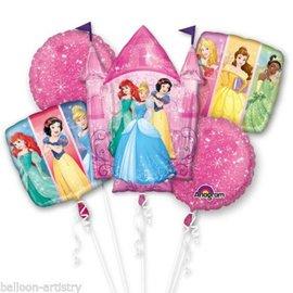 Foil Balloon - Disney Princesses Bouquet 5pk