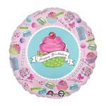 "Foil Balloon - Happy Birthday Cupcake 18"""