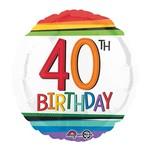 "Foil Balloon - 40th Birthday 18"""