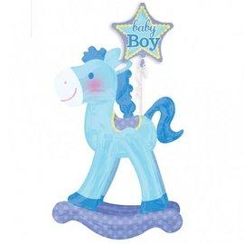 Foil Balloon-Airwalker-Baby Boy Rocking Horse