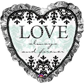 Foil Balloon-Supershape-Love Always and Forever Heart
