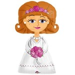 "Foil Balloon-Airwalker -The Bride - 48""x28"""