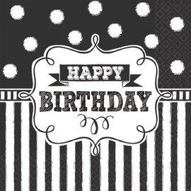 Napkins-LN-Chalkboard Birthday-16pk-2ply- Discontinued