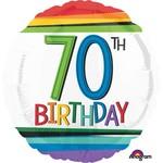 "Foil Balloon - 70th Birthday 18"""