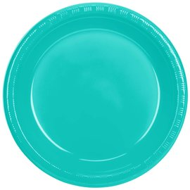 "Plastic Plates 20pcs - Teal Lagoon (10.25"")- Discontinued"