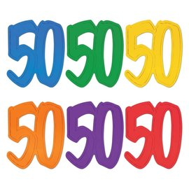 """Couout """"50"""" Assorted Colour Foil (2 Sided)"""