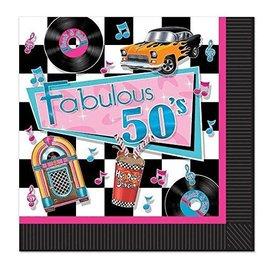 Napkins-LN-Fabulous 50's-16pk-2ply