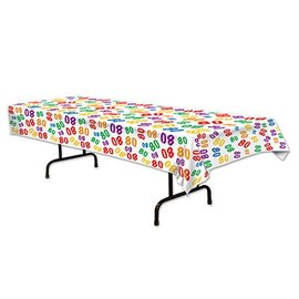 Tablecover-Rectangle-80th Celebration-Plastic