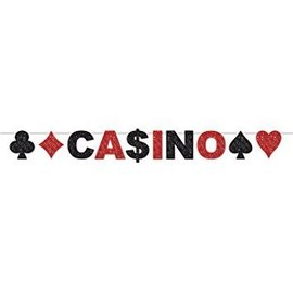 Glittered Streamer Banner-Casino-10ftx8.5in