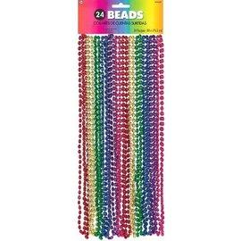 Bead Necklaces-Rainbow-30''-24pk