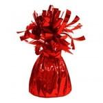 """Balloon Weight-Foil-Red-1pkg-4.5""""x2.25"""""""