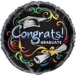 "Foil Balloon - Congrats Graduate - 18"""