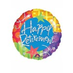 """Foil Balloon - Happy Retirement Dots and Stars - 18"""""""