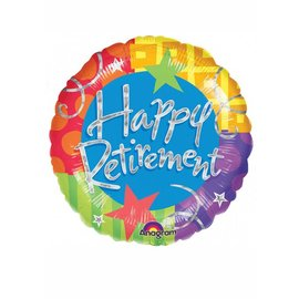 Foil Balloon - Happy Retirement Dots and Stars - 18""