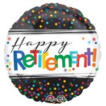 "Foil Balloon - Happy Retirement Dots - 18"""