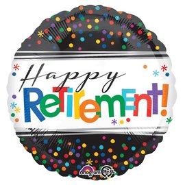 Foil Balloon - Happy Retirement Dots - 18""