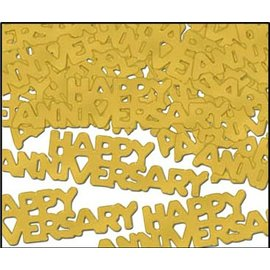 Confetti-Gold Happy Anniversary-14g