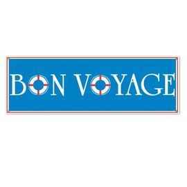 Sign Banner-Plastic-Bon Voyage-1pkg