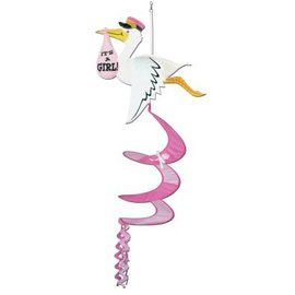 Wind Spinner-All Weather-Stork It's a Girl-1pkg-3.6ft