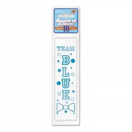 Award Ribbon-Team Blue-6.5''-10pk