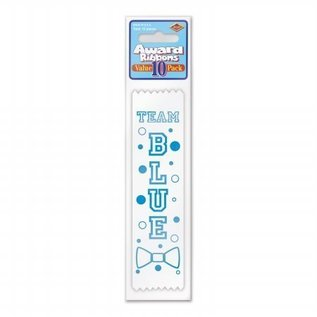 Award Ribbon-Team Blue-6.5''-10pk