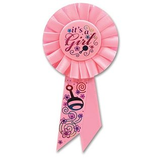 Award Ribbon-It's a Girl-1pkg-6.5""