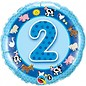 "Foil Balloon - 2nd Birthday Farm Animals - 18"""