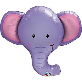 Foil Balloon-Supershape-Purple Elephant