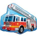 """Foil Balloon - Fire Truck - 36"""""""