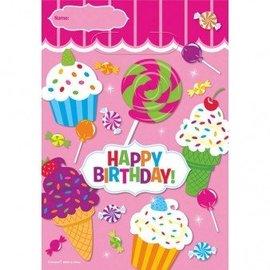 Loot Bags-Sweet Shop Happy Birthday-8pkg