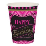 Paper Cups-Born to be Fabulous Birthday-8pkg-9oz - Discontinued
