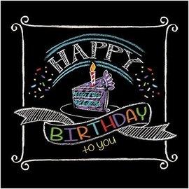 Napkins-BEV-Chalk Birthday-16pkg-2ply - Discontinued