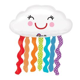 Foil Balloon-Supershape-Smiling Cloud