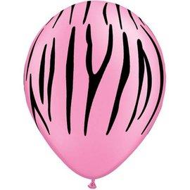 "Latex Balloon-Zebra Stripes Neon Pink-1pkg-11"""