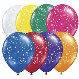Latex Balloon-Stars A Round Assortment-1pkg-11""