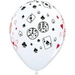 "Latex Balloon-Cards & Dice-1pkg-11"""